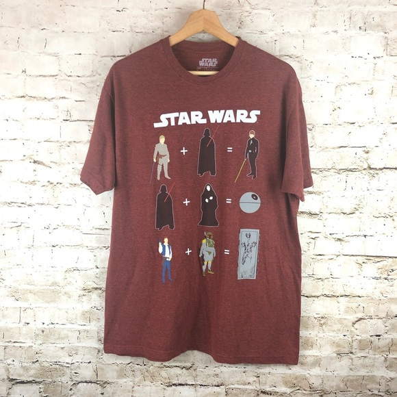 Men's Brick Red Star Wars Graphic Tee size Large.
